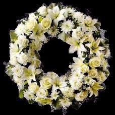 Венок европейский из живых цветов ВЕЖ-16