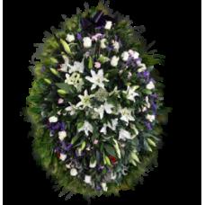 Венок из живых цветов ВЖ-139