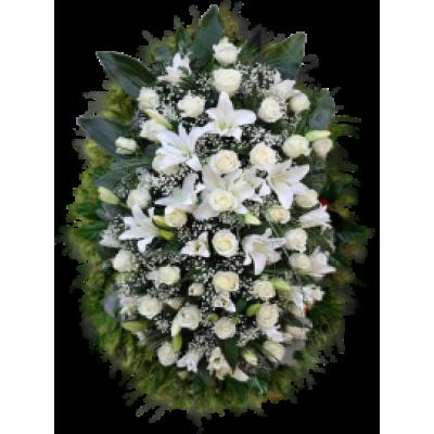 Венок из живых цветов ВЖ-51