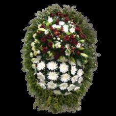 Венок из живых цветов ВЖ-53