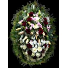 Венок из живых цветов ВЖ-54