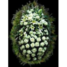 Венок из живых цветов ВЖ-55