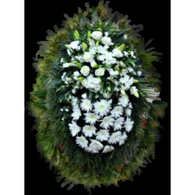 Венок из живых цветов ВЖ-56