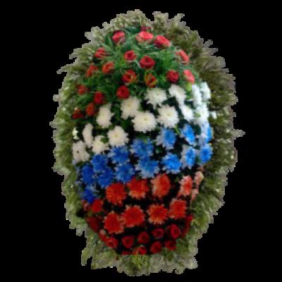 Венок из живых цветов ВЖ-75