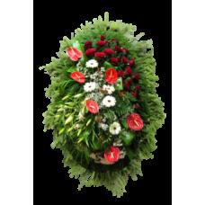 Венок из живых цветов ВЖ-81