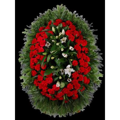 Венок из живых цветов ВЖ-118