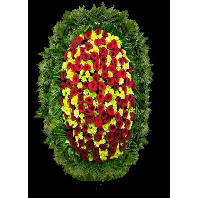 Венок из живых цветов ВЖ-125