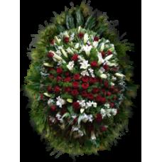 Венок из живых цветов ВЖ-22