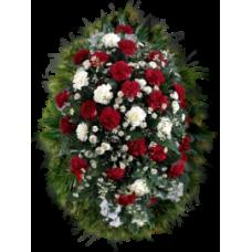 Венок из живых цветов ВЖ-25