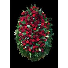 Венок из живых цветов ВЖ-28