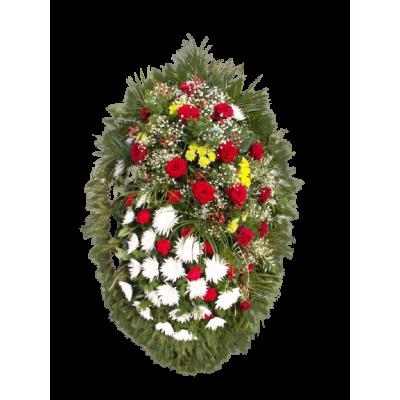 Венок из живых цветов ВЖ-06
