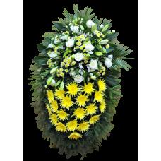 Венок из живых цветов ВЖ-69
