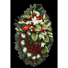 Венок из живых цветов ВЖ-83