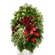 Венок из живых цветов ВЖ-107