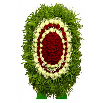 Венок из живых цветов  ВЖ-12