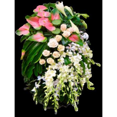 Венок из живых цветов ВЖ-120