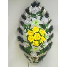 Венок из искусственных цветов ВС-30