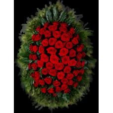 Венок из живых цветов ВЖ-14