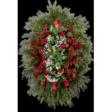 Венок из живых цветов ВЖ-15
