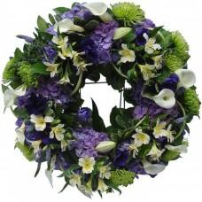 Венок европейский из живых цветов ВЕЖ-33