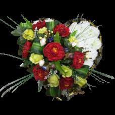 Венок из искусственных цветов в виде сердца ВСИ-04