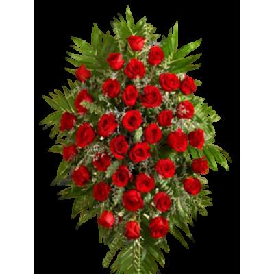 Венок из живых цветов ВЖ-18