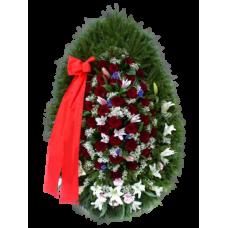 Венок из живых цветов ВЖ-19