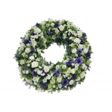 Венок европейский из живых цветов ВЕЖ-29