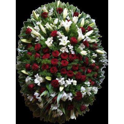 Ритуальный Венок из живых цветов ВЖ-06
