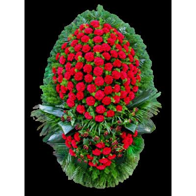Венок из живых цветов ВЖ-23