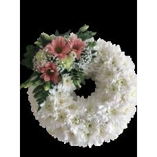 Венок европейский из живых цветов ВЕЖ-24
