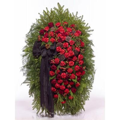 Венок из живых цветов ВЖ-24