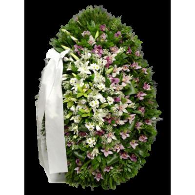 Венок из живых цветов ВЖ-29