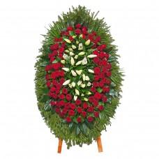 Венок из живых цветов ВЖ-30