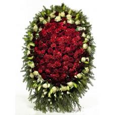 Венок из живых цветов ВЖ-106