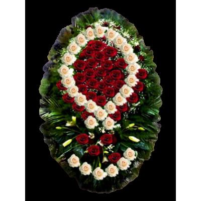 Венок из живых цветов ВЖ-36