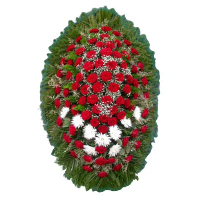 Венок из живых цветов ВЖ-39