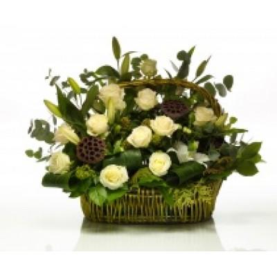 Корзина из живых цветов КЖ-63