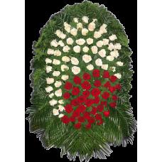 Венок из живых цветов ВЖ-43