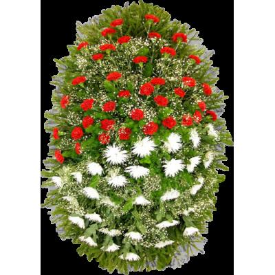 Венок из живых цветов ВЖ-45