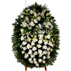 Венок из живых цветов ВЖ-48