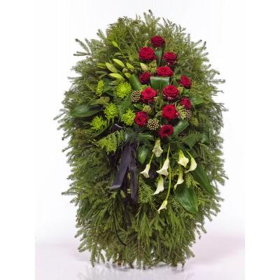 Венок из живых цветов ВЖ-102