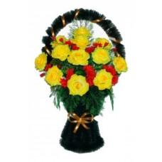 Корзина из искусственных цветов КЗ-36