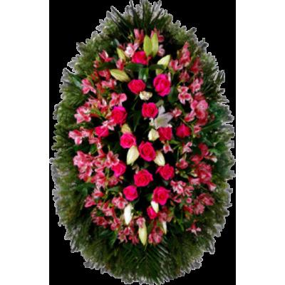 Венок из живых цветов ВЖ-58