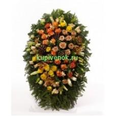 Венок из живых цветов ВЖ-135