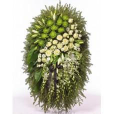 Венок из живых цветов ВЖ-109