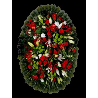 Венок из живых цветов ВЖ-64