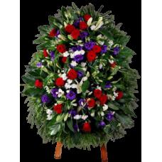 Венок из живых цветов ВЖ-65