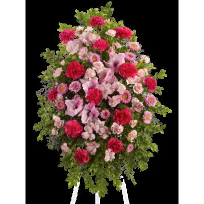 Венок из живых цветов ВЖ-66