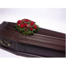 Кремационная композиция из живых цветов КР-004